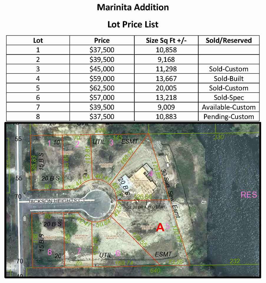 Nice lot located in Andover School District with water access.