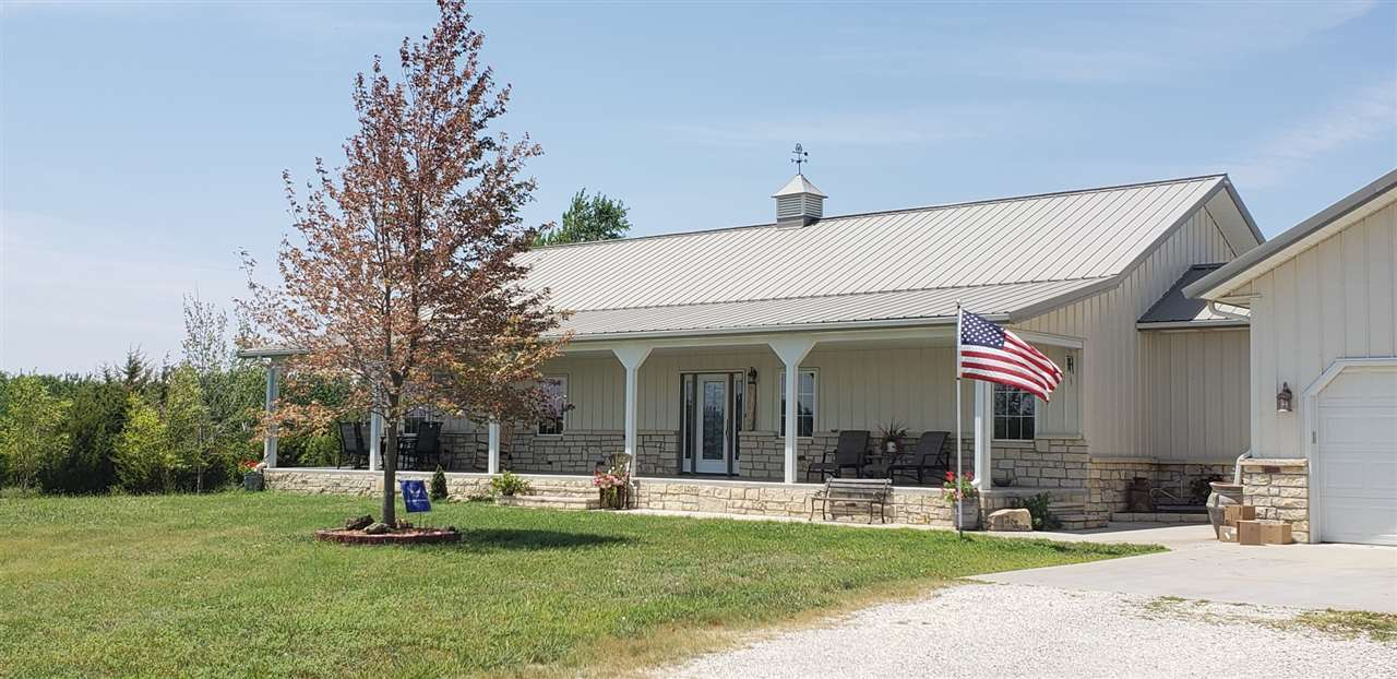 5 acres. This beautiful home is every families dream. A very nice open floor plan in the living and