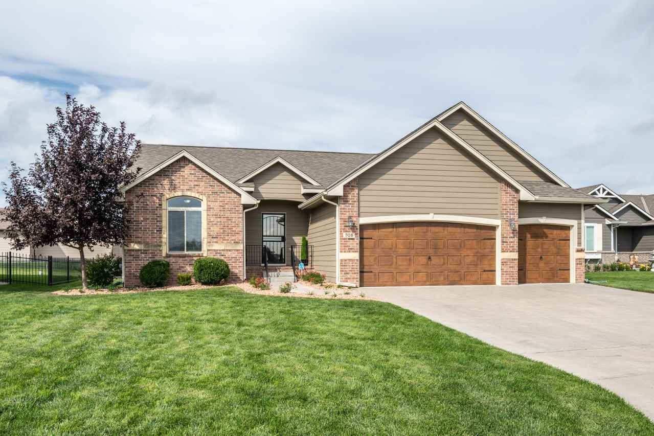Welcome Home to this move-in ready ranch situated on a private cul-de-sac lot complete with an overs