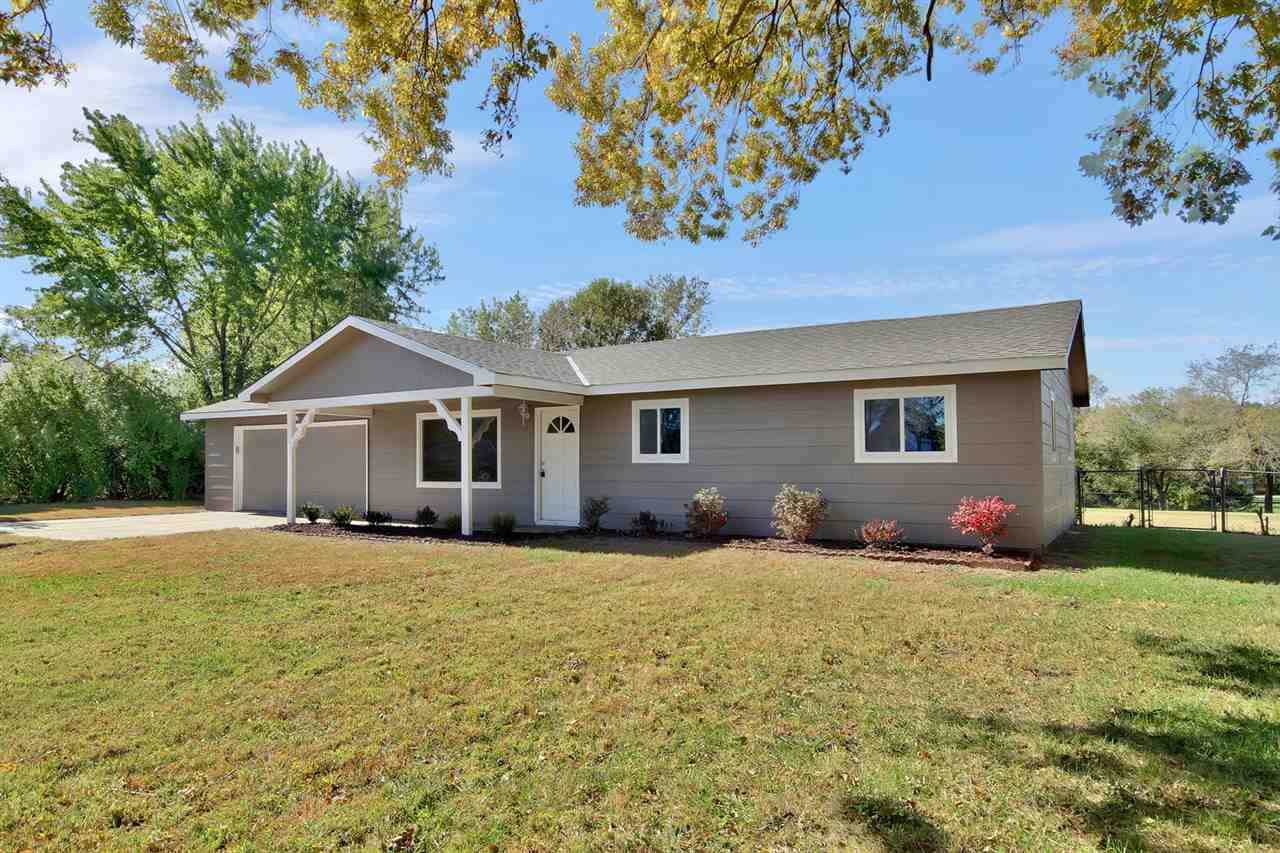 Updated 3 bed and 1 bath home on a large lot just under an acre.  Located just south of McConnell AF