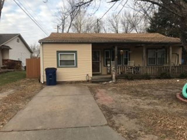 a very cute home that is located at the end of the street. the home has a nice backyard with a new f