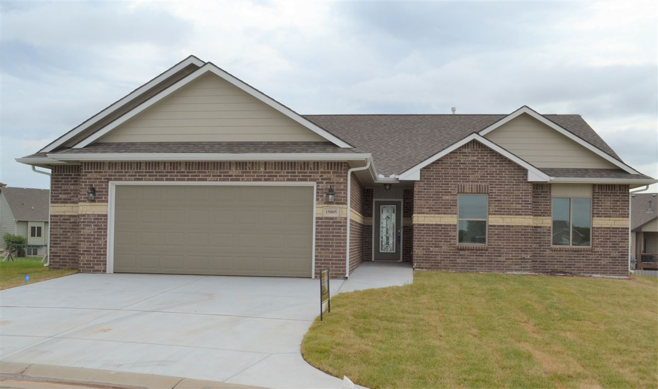 Beautiful NO STEP ENTRY Patio home with full unfinished VIEWOUT basement features an oversized garag