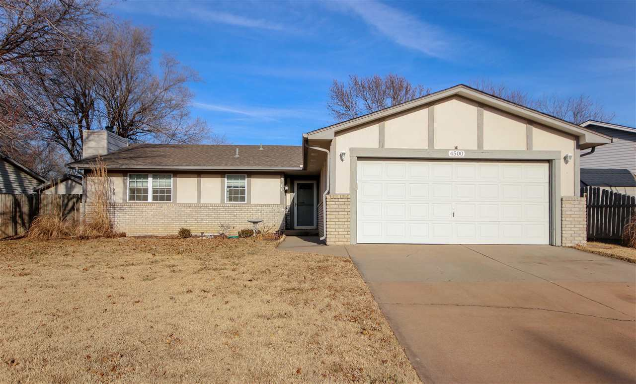 Welcome home to this 3 bed, 2 bath ranch style home in Bel Aire! You will love the freshly painted w