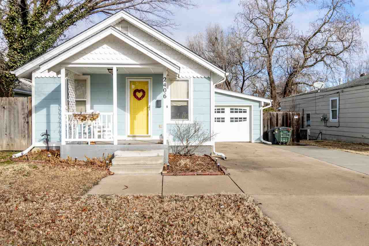 The definition of charm, this bungalow located in desirable Delano is surrounded by mature trees and