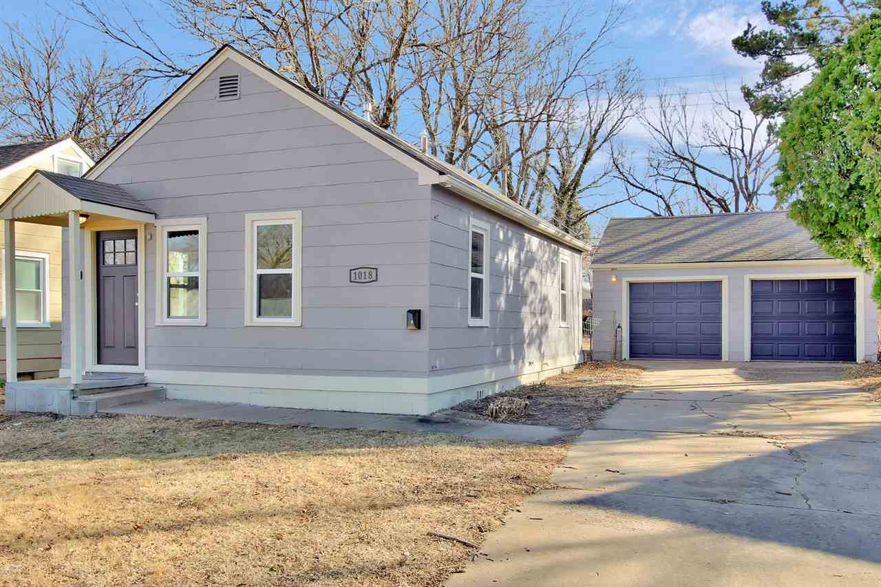 Perfect for a first time home buyer, newly remodeled two bedroom 1 bath ranch with a two car garage