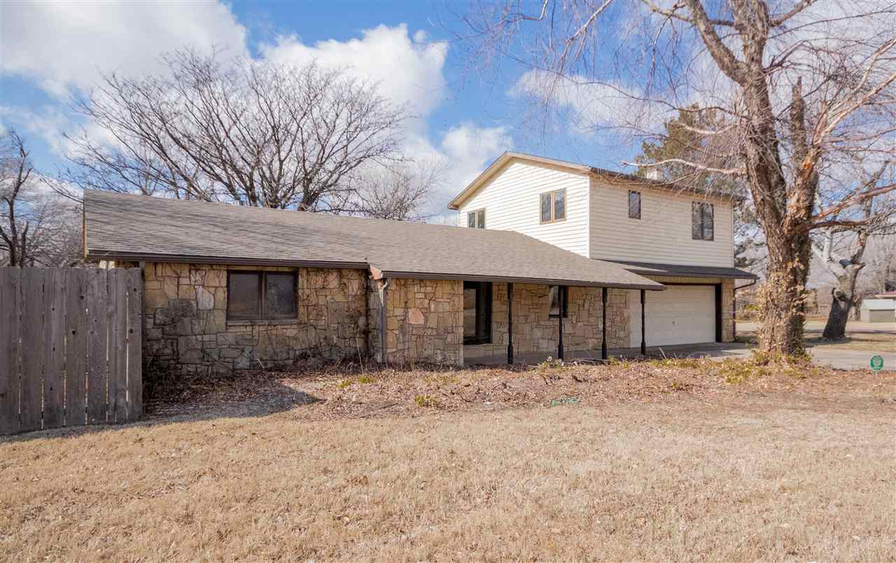 Lovely 4 bedroom 2 bathroom 2 story corner lot with stone siding. You'll have tons of room for activ
