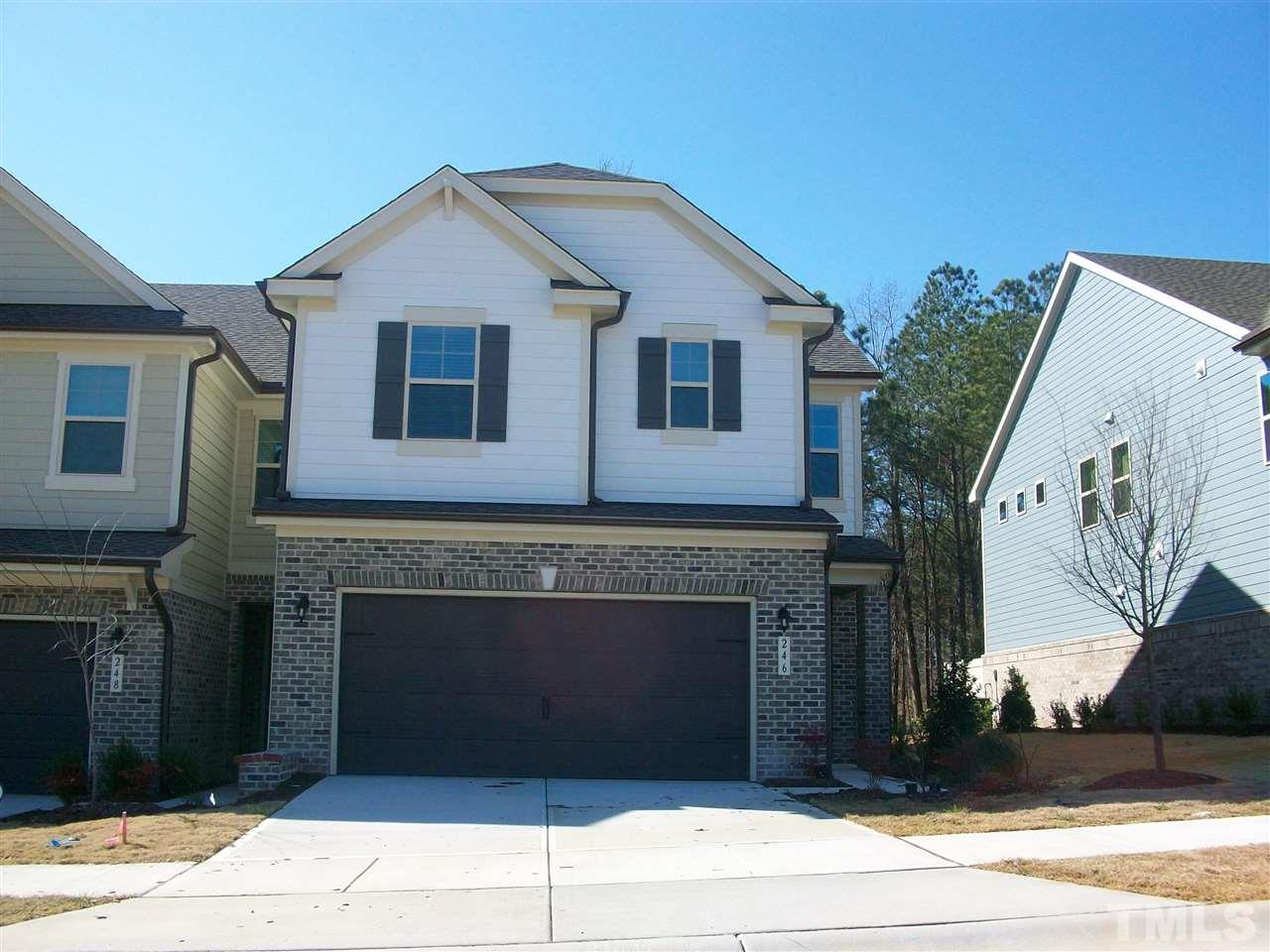 Beautiful 3 bedrooms, 2-1/2 baths and a 2-car garage Townhome in the Green Hope Crossing Community in Cary NC. Open family room faces the casual dining and gourmet-style kitchen. Upstairs, spacious secondary bedrooms, a loft and generously sized owner's suite with walk in closet provide plenty of living space for everyone. Many upgrades - Hardwood Floors, Granite Countertops and Upgraded Appliances. Spacious Living Area and End Unit Convenience and Privacy.