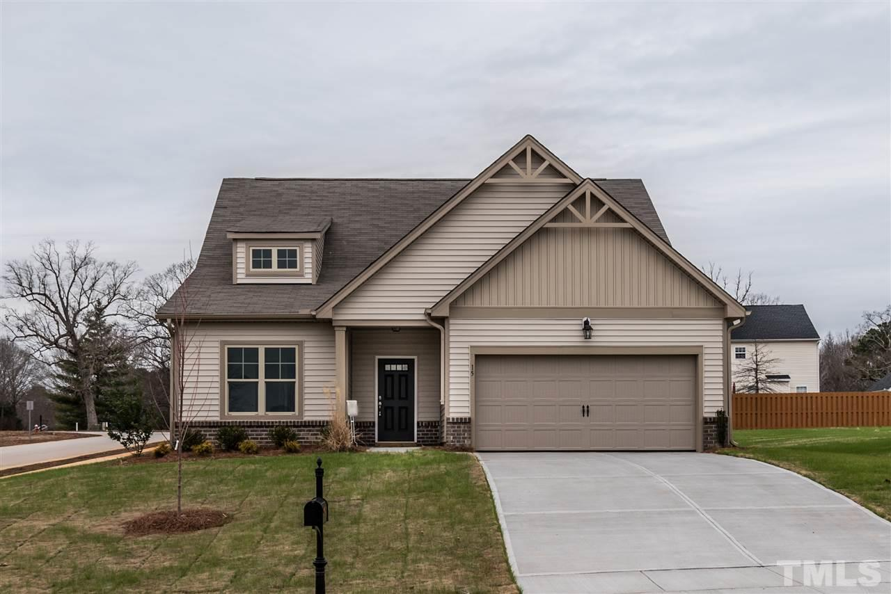 Photo of home for sale at 15 Ambergate Drive, Youngsville NC