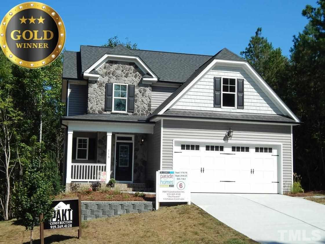 Photo of home for sale at 115 Falcon Crest Lane, Youngsville NC