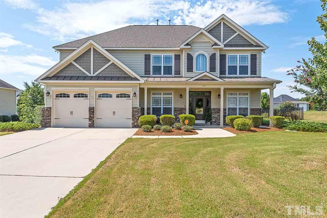 Photo of home for sale at 331 Adams Point Drive, Garner NC