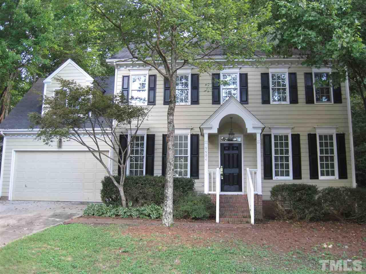 Photo of home for sale at 9904 Bright Hedge Court, Raleigh NC
