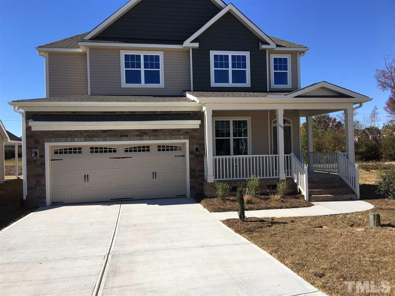 Photo of home for sale at 105 Thimble Way, Garner NC
