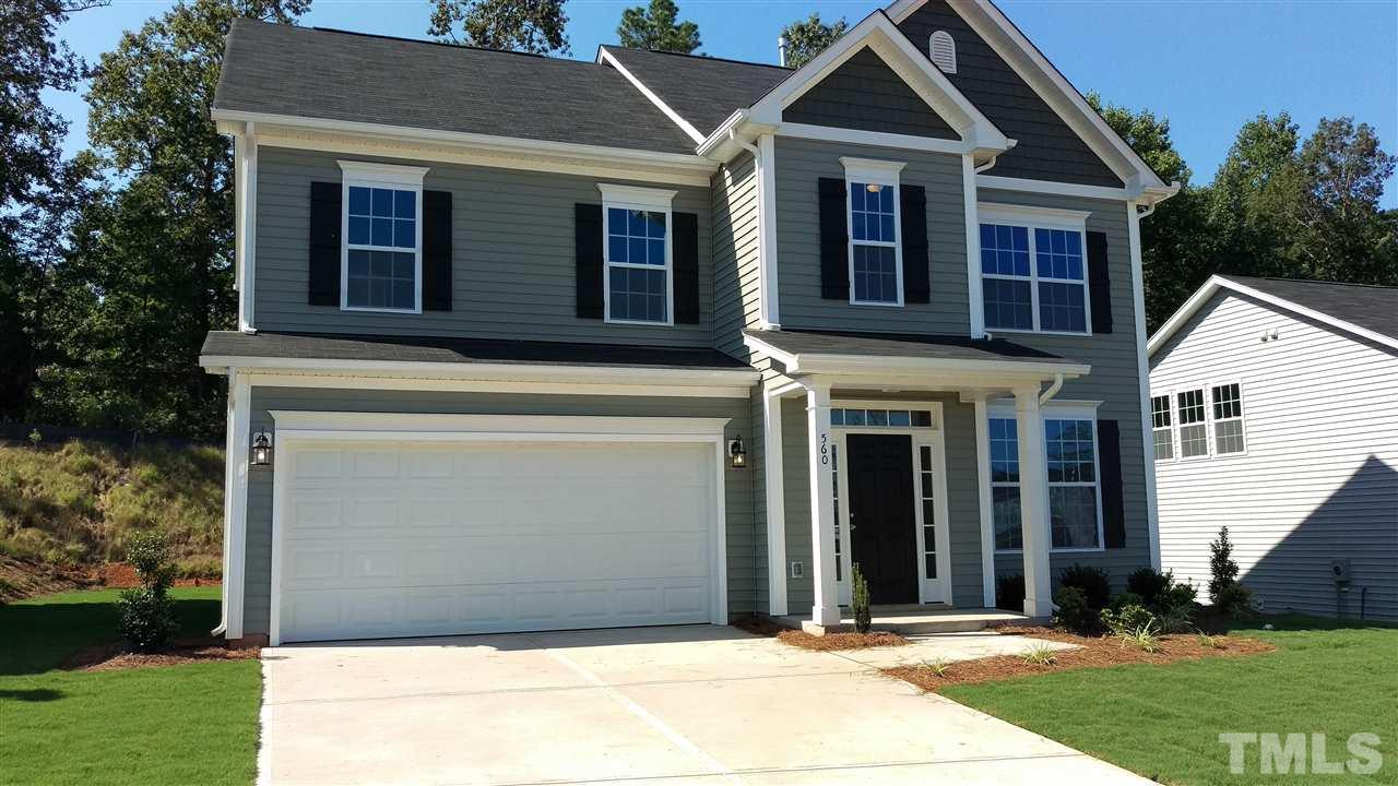 Photo of home for sale at 560 Mulberry Banks Drive, Clayton NC