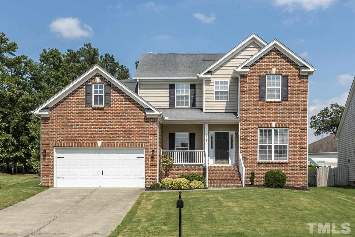 Photo of home for sale at 202 Councilman Court, Morrisville NC