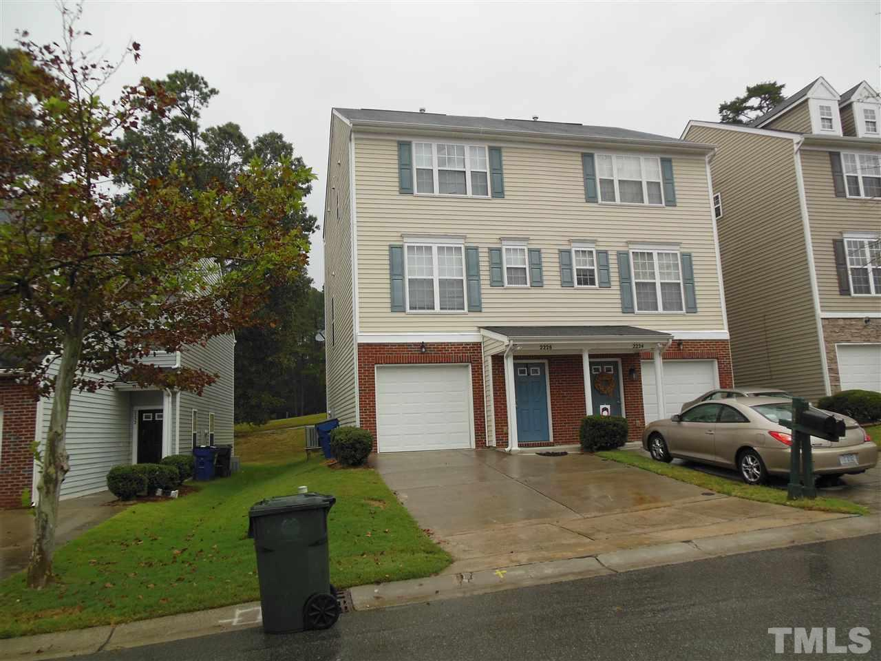 Three story townhome in the Hedingham community, overlooks golf course in back of home, two bedrooms, two full bathrooms, living area, eat in kitchen, back deck - overlooking golf course, downstairs room / office, one car garage area.