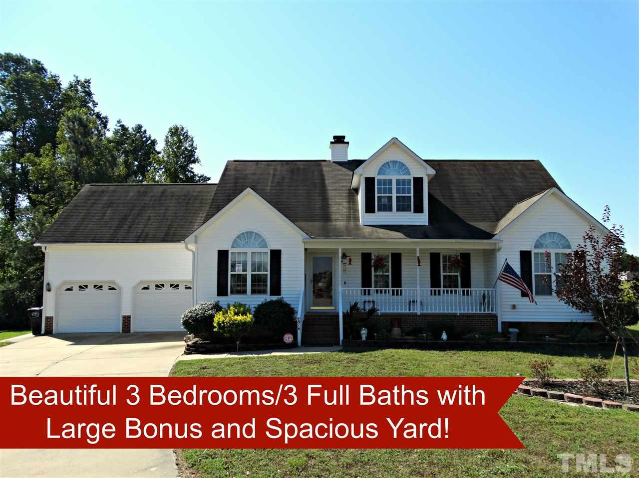 Photo of home for sale at 4916 Topstone Road, Raleigh NC