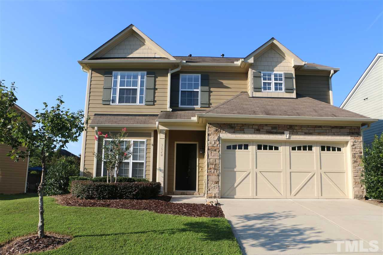 Photo of home for sale at 3620 Willow Stone Lane, Wake Forest NC