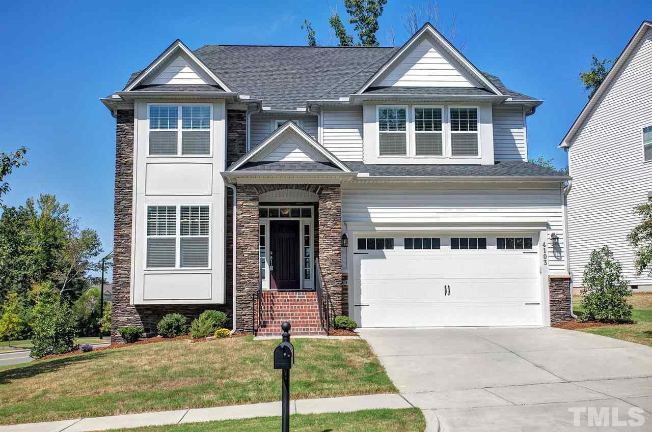 Photo of home for sale at 4103 Plum Branch Drive, Cary NC