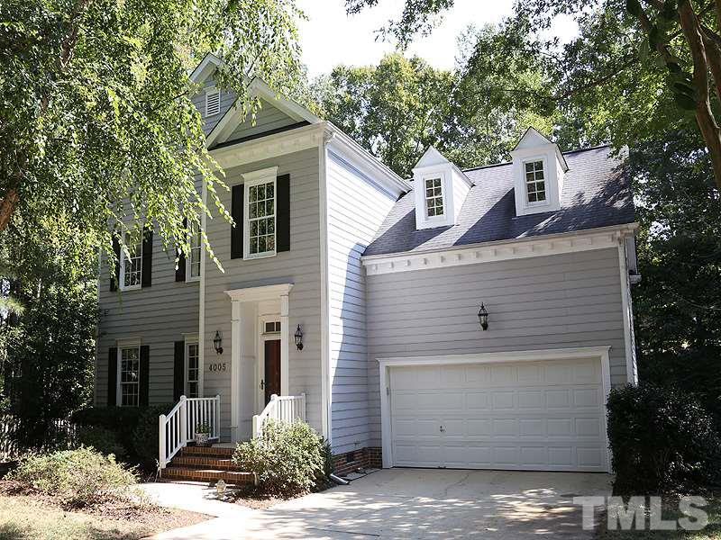 Photo of home for sale at 4005 Sturbridge Drive, Durham NC