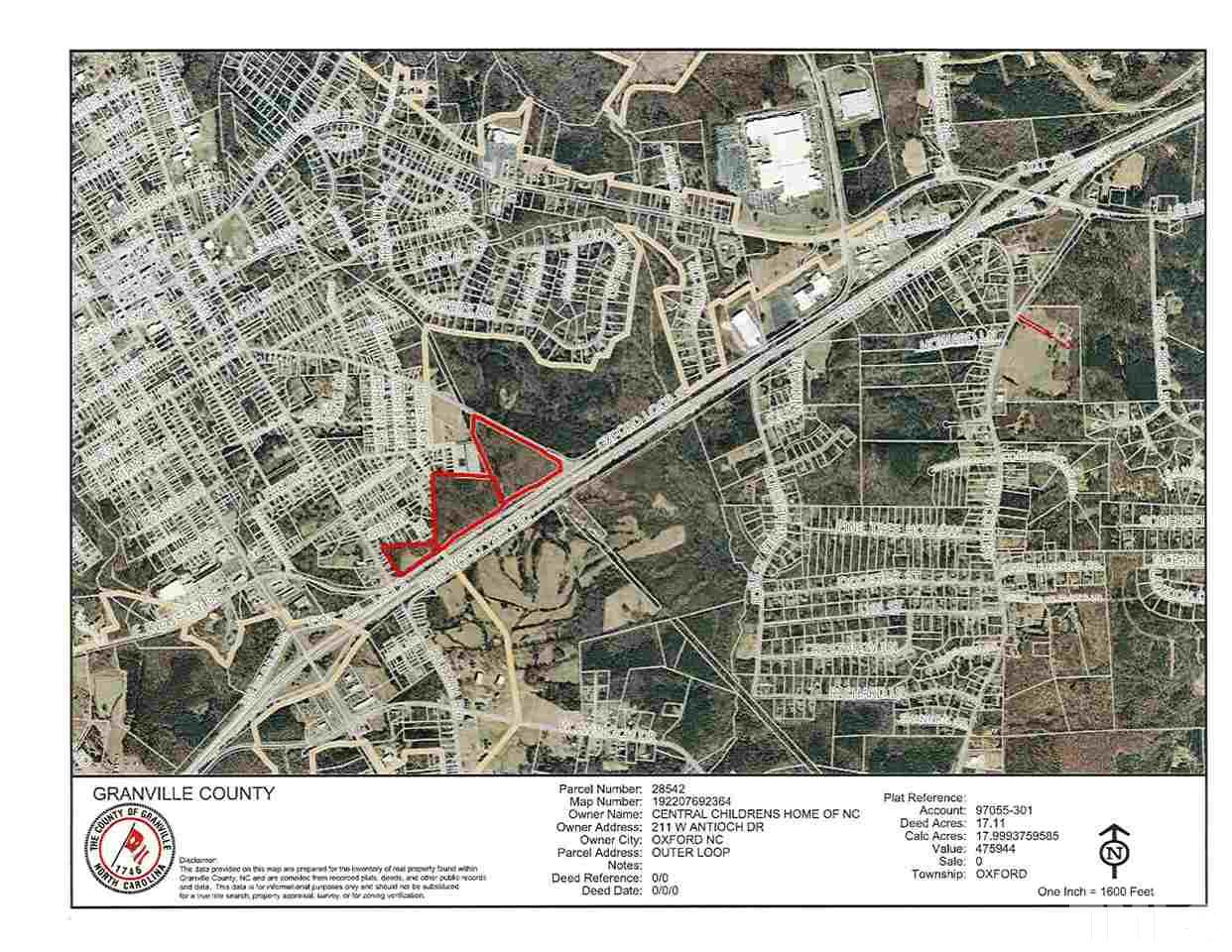 Property for sale at 0 Outer Loop Road, Oxford,  NC 27565