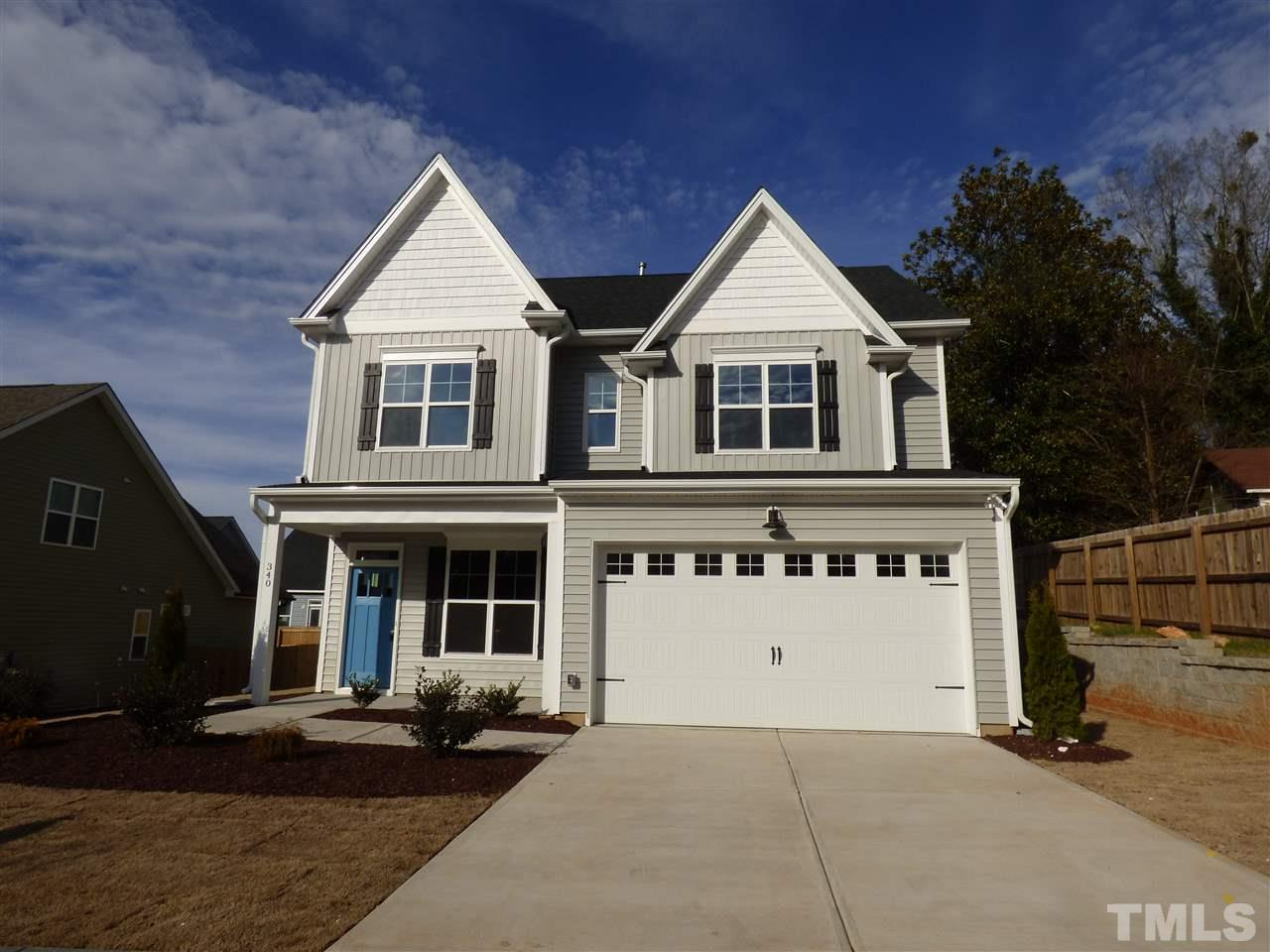 340 Joyner Bluff Drive, The Bluffs at Joyner Park, Wake Forest NC (Homesite 11) - $343,158