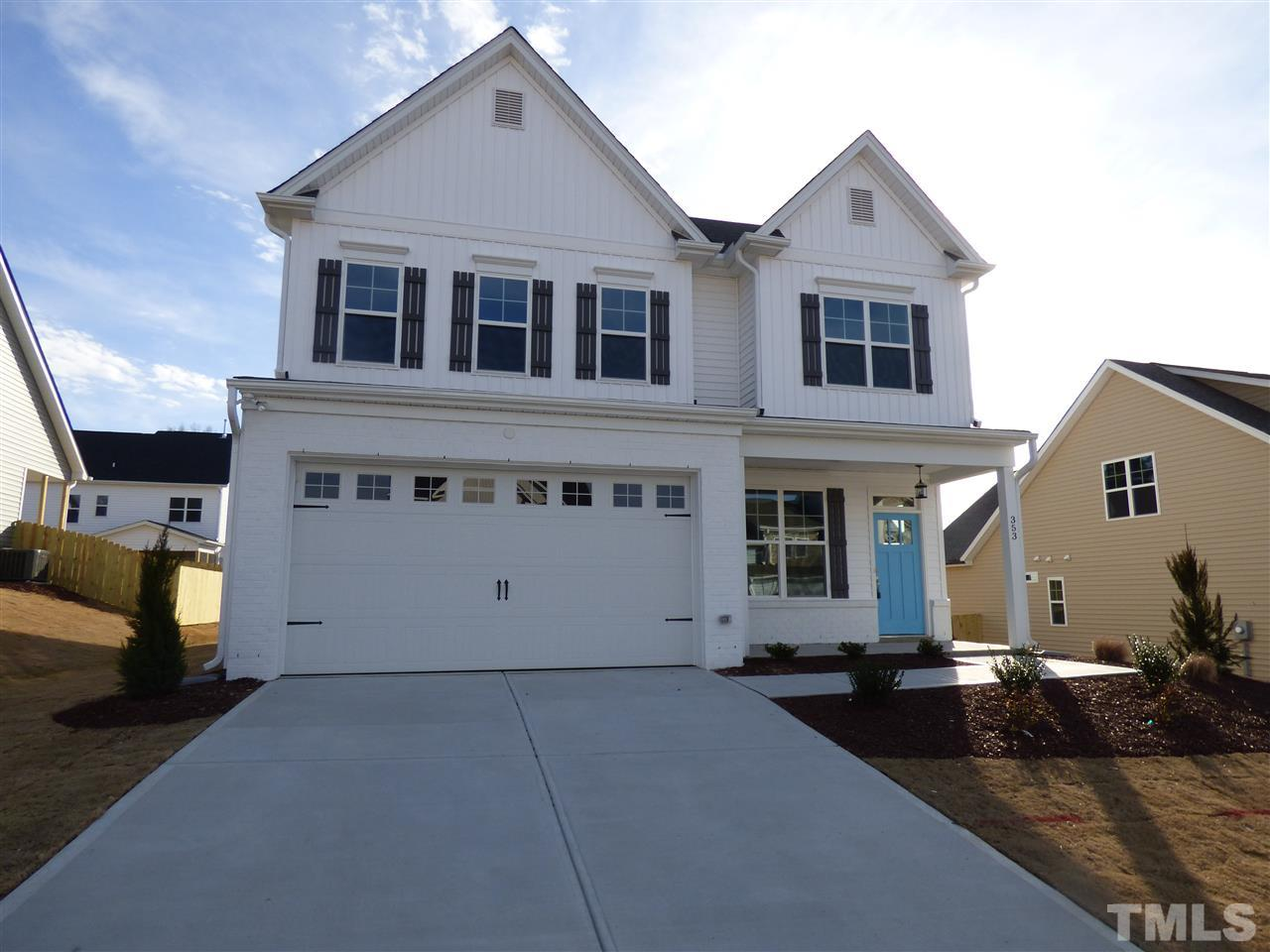 353 Cascade Hills Lane, The Bluffs at Joyner Park, Wake Forest NC (Homesite 21) - $300,000