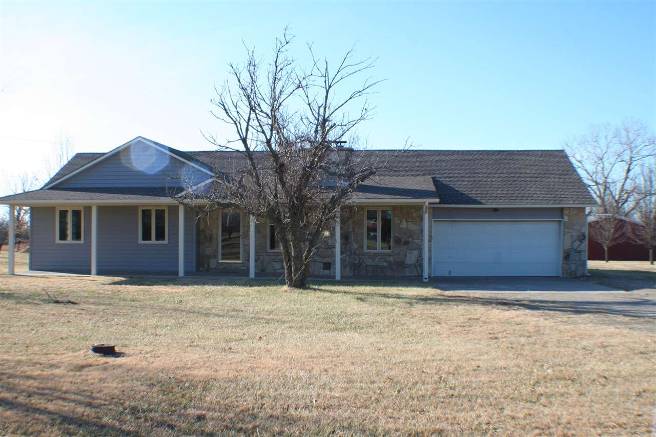 Ranch home on 3 acres right off blacktop. This home has had some major remodeling done. New shingles