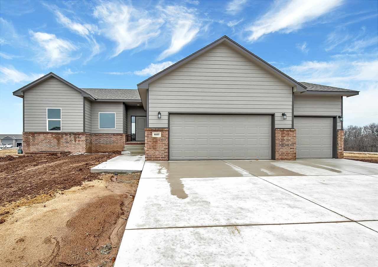 Open House Sunday 2:00 - 4:00. Open floor plan with upgrades through out, Granite counters in Kitchen and Master Bath, LVP flooring front room, kitchen and dining. View out basement. Cul de sac lot.  Low Specials. Other floor plans available including Zero Entry plans.