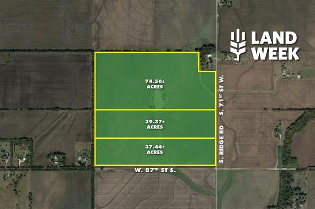 For Sale: 74.50 +/-  Acres at 87th & Ridge Rd., Clearwater KS