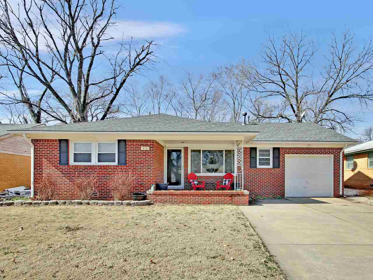 Cute! Cute! Cute! Check out this darling all brick 3 bedroom, 1 bath ranch in Derby! Living romm, di