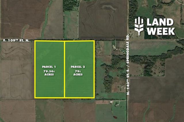 For Sale: 79.36 +/- Acres  109th St. N. & 143rd St. E., Benton KS