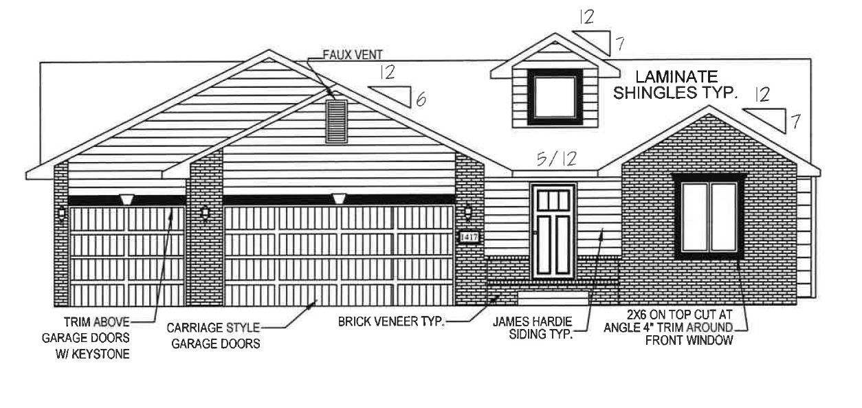 This home comes with a 45% GENERAL TAX REBATE FOR FIVE YEARS! This popular Morgan A mid-level walk-o