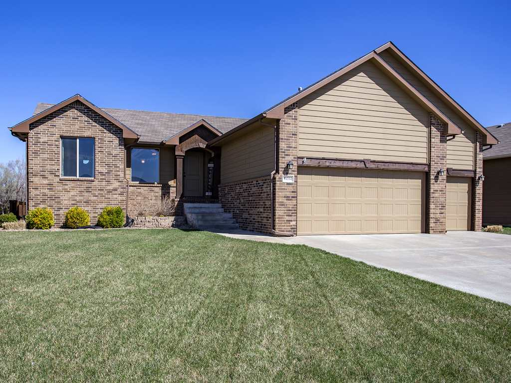 Lovely ranch style home on a quiet cul-de-sac lot in West Wichita. Total 4 bdrms. 3 baths with a 3-c