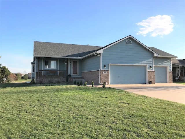 Stunning 4 bedroom, 3 bath ranch with view out finished basement. Open living/ dining/ kitchen area