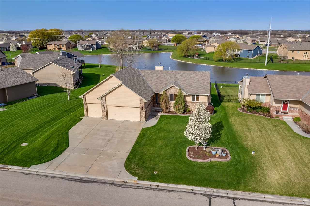 Gorgeous Lake Lot Ranch Style Home Now for Sale in West Wichita in the Silverton Addition! 4 bedroom
