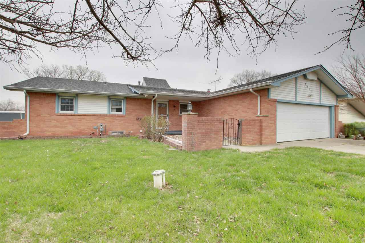 Great ranch home just on the outskirts of Wichita.  Large oversized lot and a detached garage.  Just