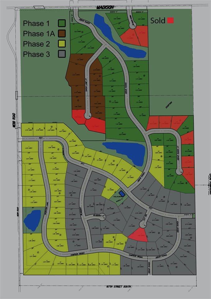 For Sale: Tbd  Tbd Tbd Lot 1 Block A Cedar Ranch Estates, Derby KS