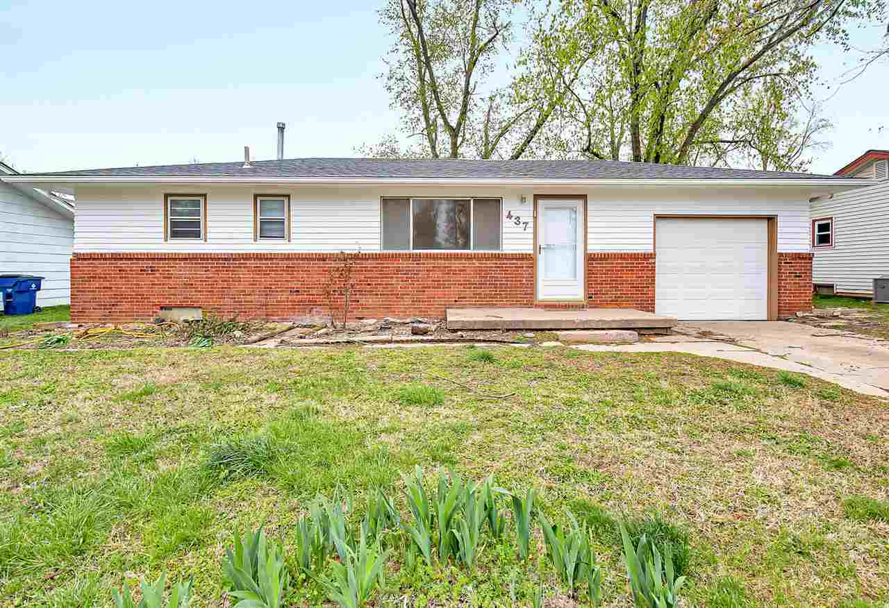Charming 3 bedroom, 1 bath home tucked away in a quiet neighborhood in Haysville. This home is updat