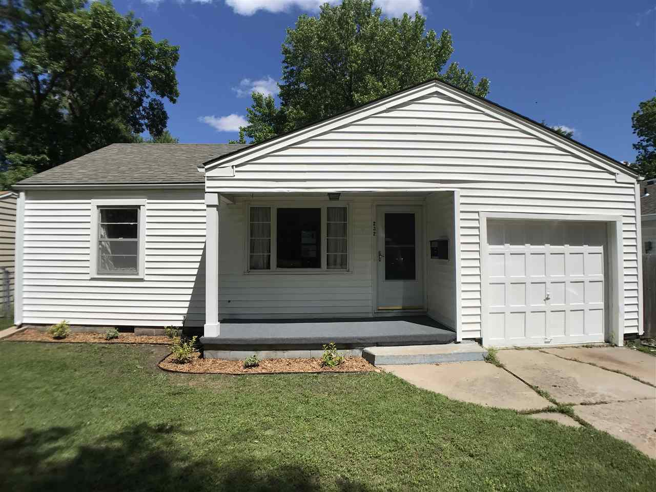 Going....Going....Gone! Recently updated home with huge detached garage! Really cute 2 bedroom, 1 ba