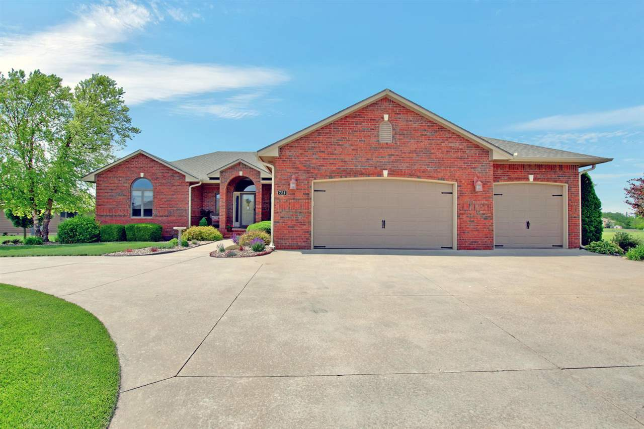 Custom built home located in much desired Stone Creek neighborhood with 4 bedrooms, 3 baths and over