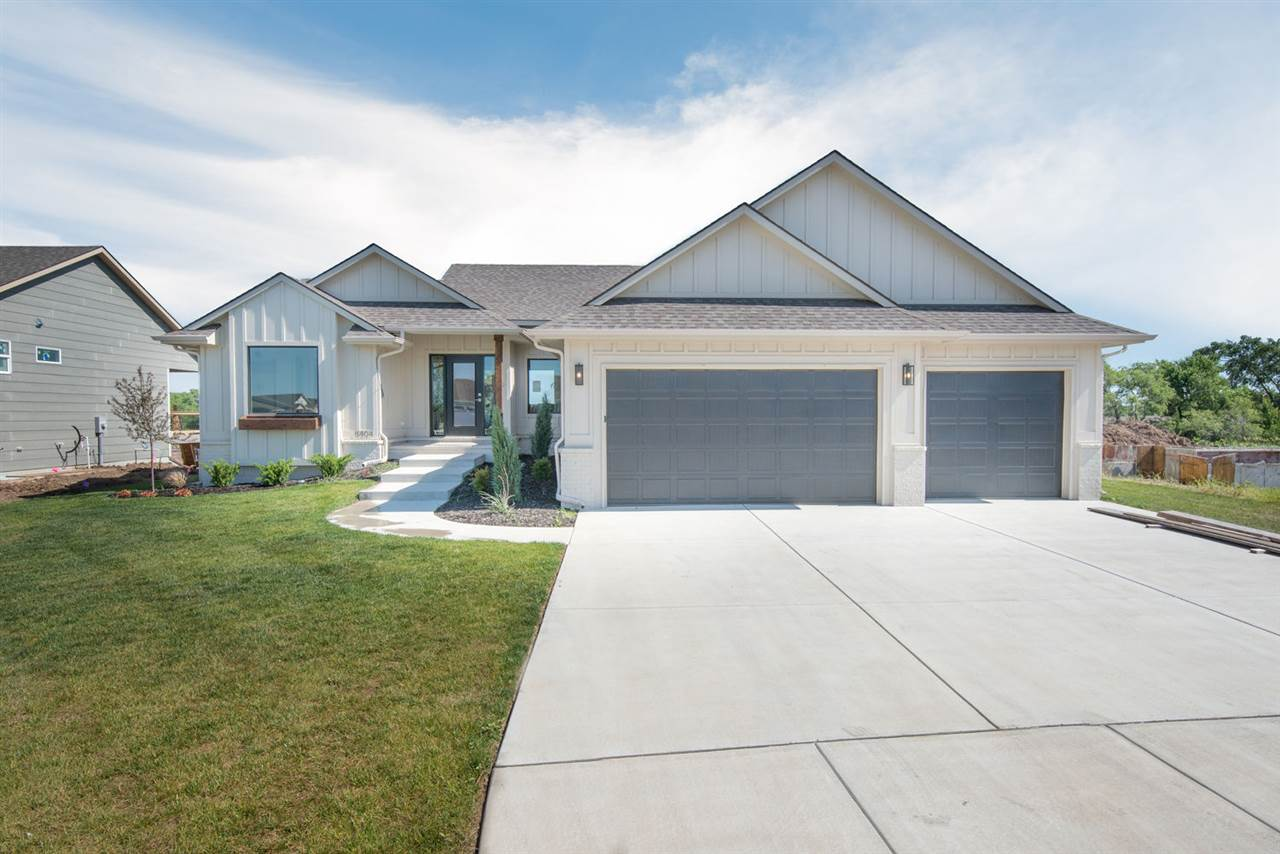 BEAUTIFUL BRAND NEW SPLIT BED RANCH HOME IN DERBY SCHOOLS! WALK INTO A 1 OF 2 MAIN LEVEL LIVING AREA