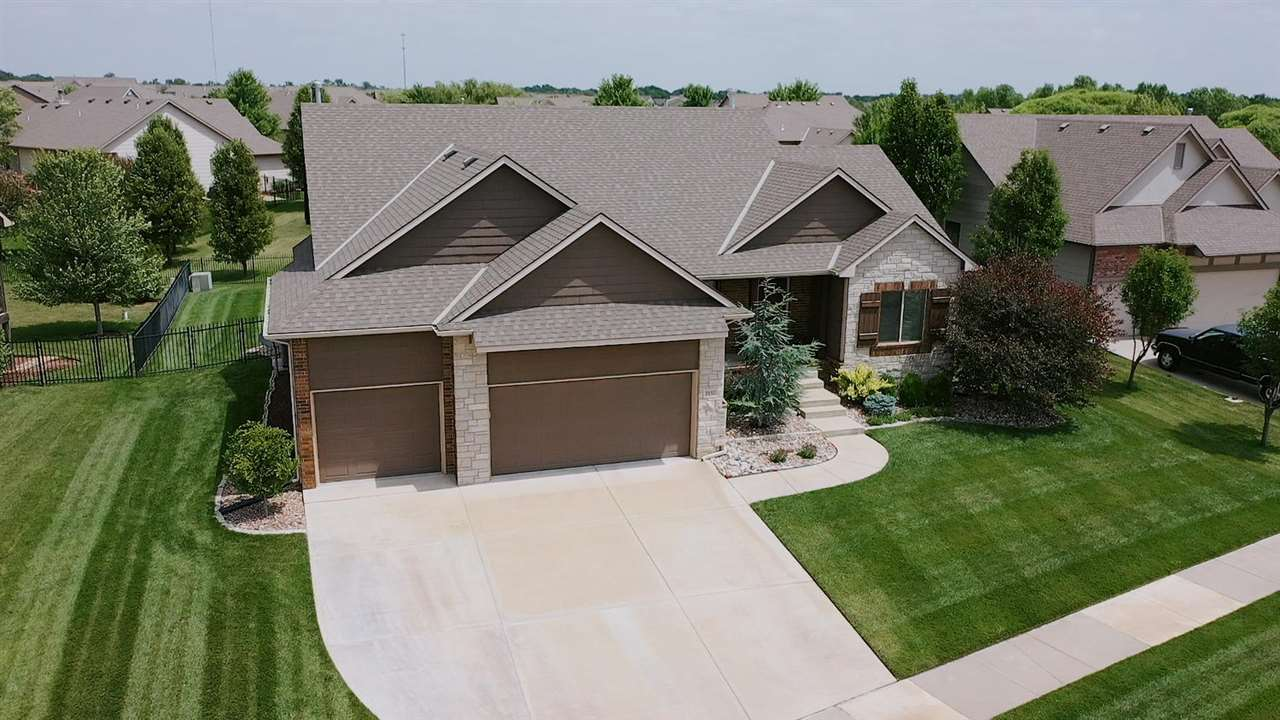 Newly listed residential located in the coveted Cornerstone subdivision. Main floor boast open floor plan with open kitchen. Large kitchen island, walk-in pantry with granite. All upgraded kitchen appliances remain. The master suite includes a large walk-in closet, free standing tub and walk-in shower. The basement has two big bedrooms, full bath, family room and a second fireplace. The neighborhood pool is in walking distance! This residence has many upgrades and won't last long. Call now!