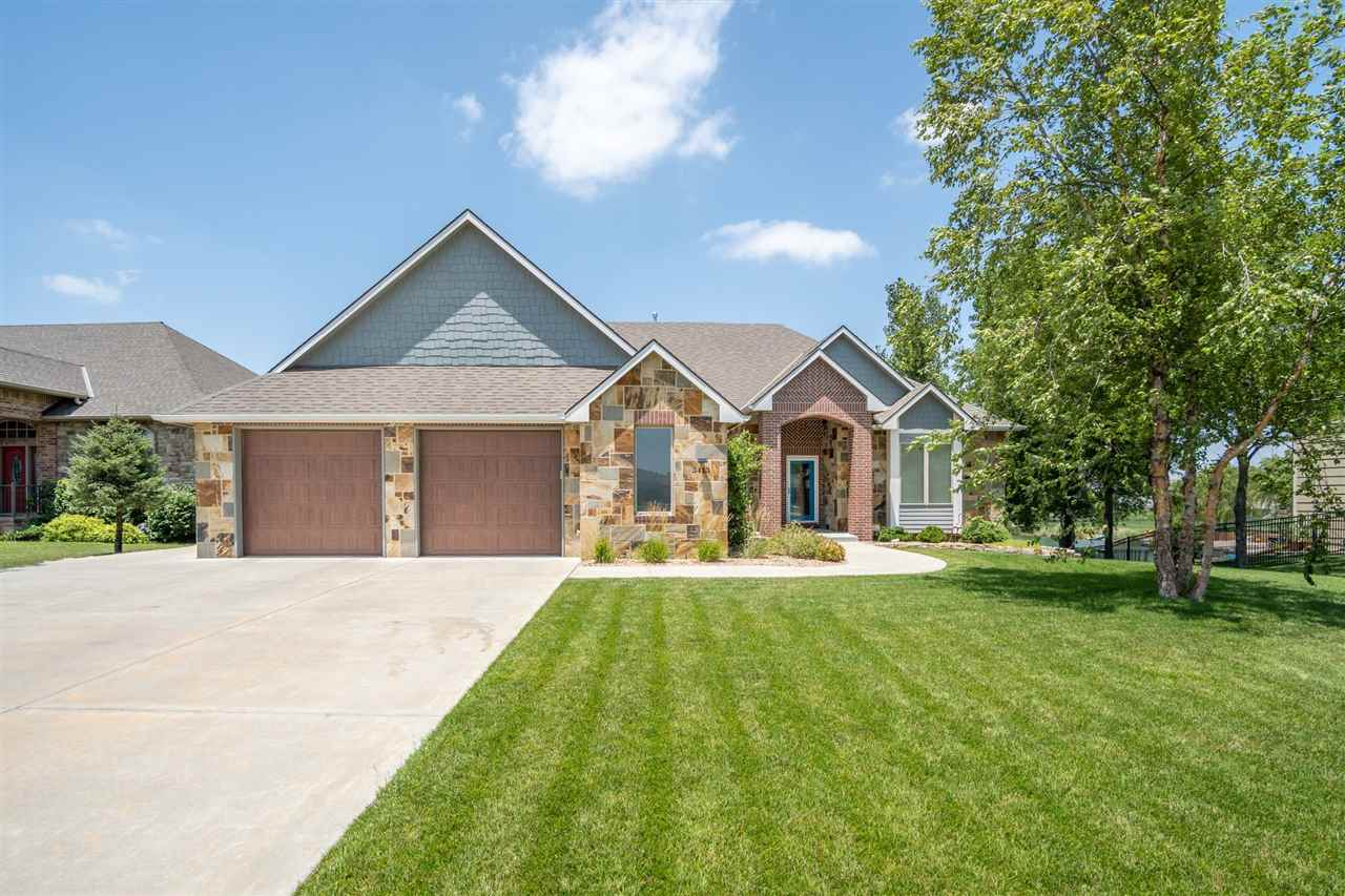 Spectacular home in the highly desirable Haysville School District boasting almost 4500 square feet
