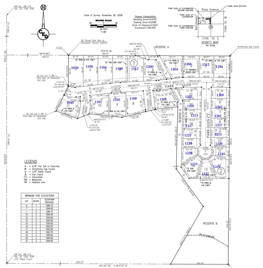 For Sale: 1101  Park Glen St, Clearwater KS
