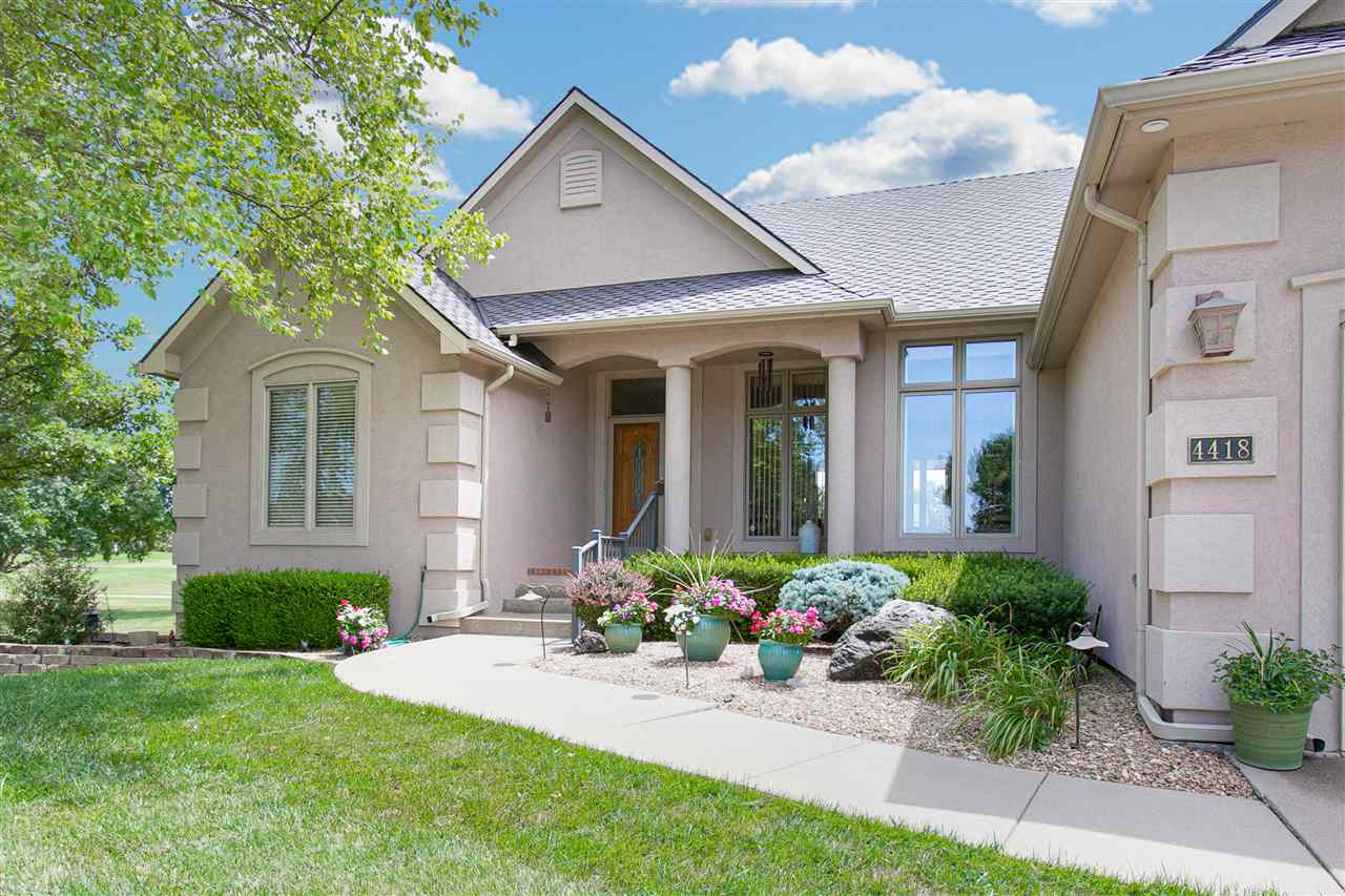 Enjoy peaceful living at this gorgeous Willowbend home located on the Golf Course! Originally a model home! This immaculately maintained home features 4 bedrooms and 3 full baths plus all kitchen appliances stay with the home! Enjoy relaxing mornings on the covered deck overlooking the golf course or in your cozy hearth room with a gas fireplace. The deck also has built in speakers to enjoy! Kitchen features granite countertops, eating bar/island combo and plenty of storage. The master bedroom features its own bath with a whirlpool tub and separate shower plus a walk in closet and its own private entry onto the back deck plus new carpet. The living room features large windows letting in natural light and a gorgeous view PLUS a gas fireplace AND its own built in speaker system. The spacious basement features big view out windows plus an entertainment center that includes a TV set that stays with the home AND a large wet bar! Two basement bedrooms and one extra bath plus storage closets. The lot to the North of the home is empty and tree filled allowing for more privacy. New roof in 2013- home insured by State Farm Insurance. You must see it for yourself! Pride of ownership is obvious in this home. Call today for a a private showing!
