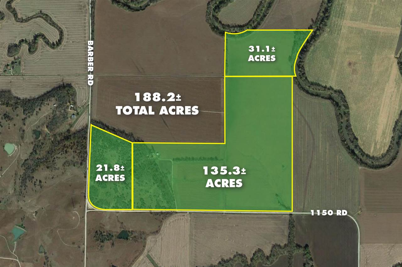 For Sale: 188.2 +/- Acres  1150 Rd., Fredonia KS