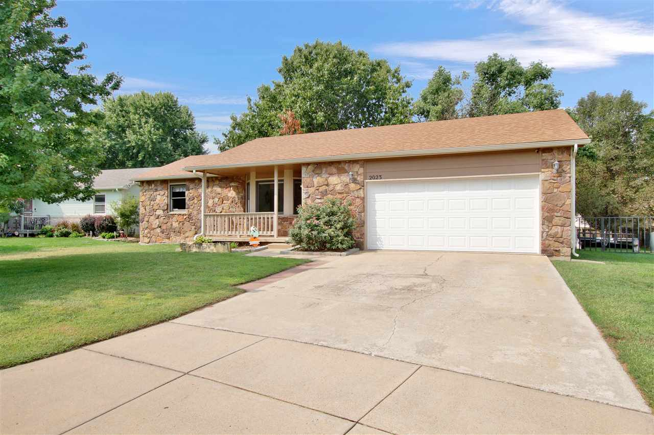 This ranch home is located in the highly desired Maize schools.  There are two bedrooms and a hollyw