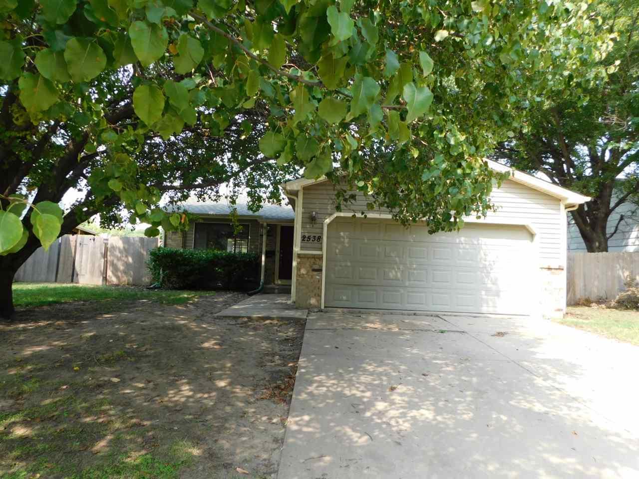 3 bedroom, 2 bath, 2 car garage with fenced yard.