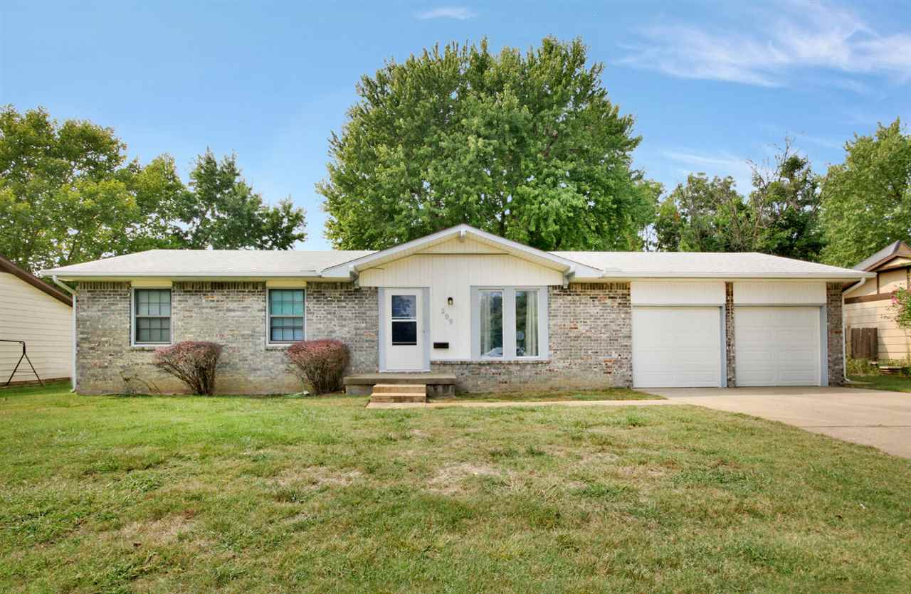 Wonderful ranch home, with 3 bedrooms,  2 baths, 2 car garage, and fenced yard.   New carpet, paint,