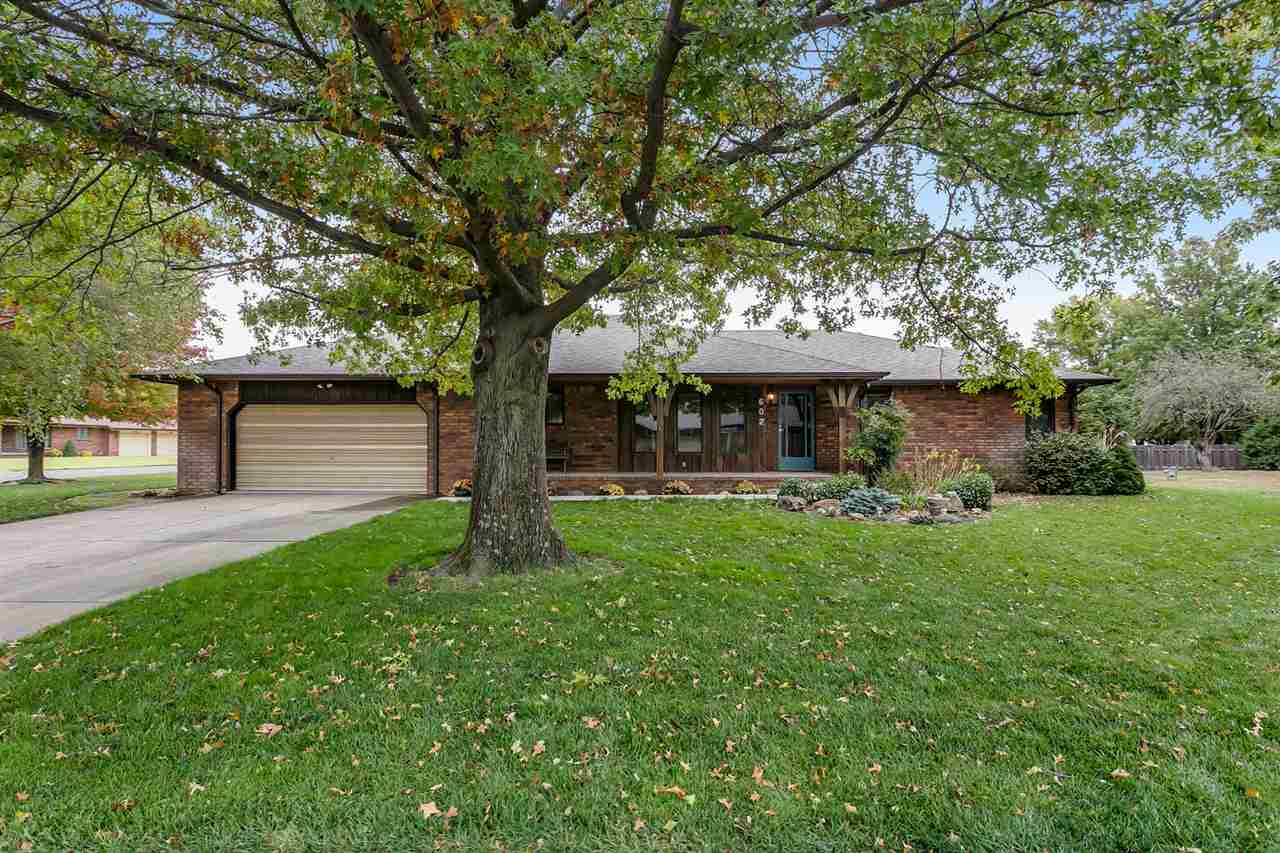 Looking for an immaculate full brick home in Andale, KS? This one is the one you will want. Pride in ownership! So much space and major updates already done for you. Brand new roof & gutters, brand new a/c & furnace, brand new water softener, brand new dishwasher! All new concrete out front & out back. You have sprinklers on a well, for the yard enthusiast! Inside the home, you will have over 1600 square feet on the main level. 2 bedrooms, 1.5 baths, with main floor laundry off the kitchen and a gas fireplace in the living room. In the basement you will find an additional bedroom, bath, wet bar, and family room with two huge storage spaces. One which could be finished for more square footage space if desired. Basement also has a wood burning fireplace! Don't let this one of a kind home slip away